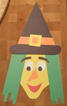 crafts halloween construction paper witch