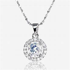 Designer Sterling Silver Necklaces The Amelia Sterling Silver Diamonflash Cubic Zirconia Necklace