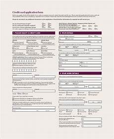 Pre Authorization Credit Card Free 8 Sample Credit Application Forms In Pdf Ms Word