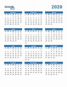 Calendar 2020 Ms Word 2020 Calendar Pdf Word Excel