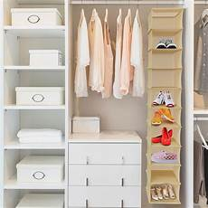 hanging shoe organizer 10 shelf vertical closet storage