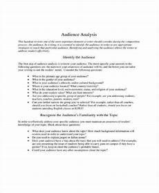 Audience Analysis Example 8 Audience Analysis Templates Pdf Word Free