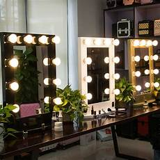 Makeup Vanity With Lights Large Hollywood Makeup Mirror Tabletop Vanity Lighted