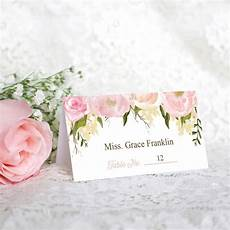 Pink Place Cards Wedding Place Cards Pink Floral Diy Printable Wedding