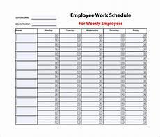Staff Schedule Template Weekly 9 Weekly Work Schedule Templates Pdf Docs Free