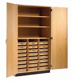 maple wood tote tray and shelving storage cabinet 48 quot w x