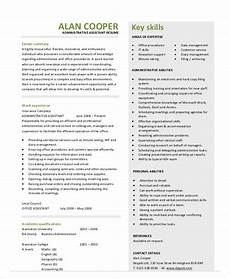 Admin Assistant Resume Skills Free 11 Sample Admin Assistant Resume Templates In Ms