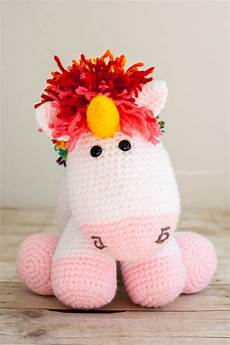 rainbow cuddles crochet unicorn pattern one woof