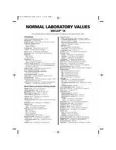 Usmle Lab Values Usmle Step 1 Lab Values Pdf Laboratory Values Included