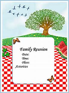 Family Reunion Flyers Templates Printable Family Reunion Booklet Flyers Invitations