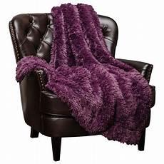 chanasya soft shaggy longfur throw blanket snuggly