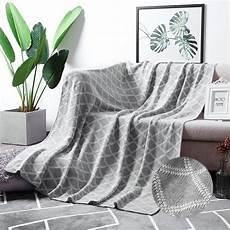 moma 100 cotton light grey cable knit throw blanket for