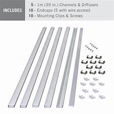 Led Channels And Diffusers For Tape Lighting Led Tape Light Mounting Channel 5 Pack 1m 39 In Each