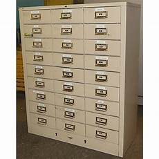 cole steel vintage industrial 27 drawer metal cabinet