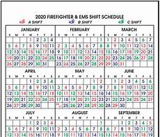 48 96 Fire Schedule Calendar Imprint