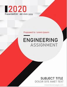 Cover Page For Assignment Free Download Engineering Assignment Cover Page Templates Ms Word