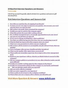 Frequently Asked Interview Questions And Answers 24 Best Exit Interview Questions And Answers