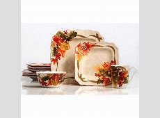 222 Fifth Autumn Celebration 16 Piece Dinnerware Set