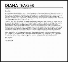 Compliance Cover Letters Compliance Specialist Cover Letter Sample Cover Letter