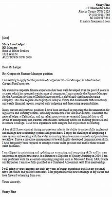 Sample Cover Letter For Finance Manager Position Covering Letter For Finance Manager Position
