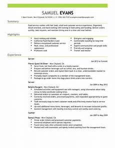 Restaurant Resume 18 Amazing Restaurant Amp Bar Resume Examples Livecareer