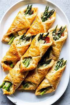 prosciutto asparagus puff pastry bundles appetizer fox