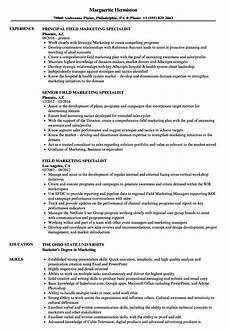 Marketing Specialist Resume Sample Field Marketing Specialist Resume Samples Velvet Jobs