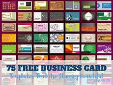 Free Template Business Cards To Print 75 Free Business Card Templates That Are Stunning Beautiful