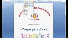 Front Page For Computer Project How To Make Front Page In Microsoft Word Youtube