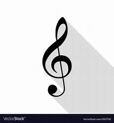 Treble Sign Music Violin Clef Sign G Clef Treble Clef Black Vector Image
