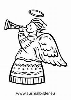 ausmalbilder weihnachtsengel spielt trompete