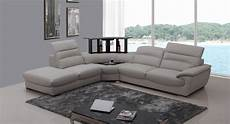Gray Sectional Sofa 3d Image by Divani Casa Miracle Modern Light Grey Italian Leather