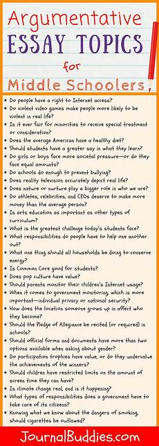 Easy Evaluation Essay Topics 33 Argumentative Essay Topics For Middle School