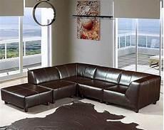 espresso leather sectional sofa set 44ldmo