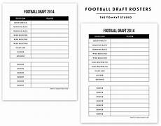 Free Printable Football Roster The Tomkat Studio Blog