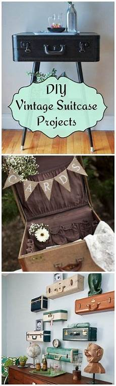 diy vintage suitcase projects travel wall suitcase