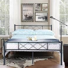 easy set up premium metal bed frame platform box