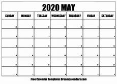 2020 Calendar Free Download Printable May 2020 Calendar