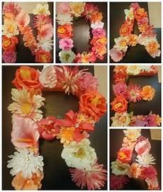 letras con flores letras con flores artificiales 30 x 30 cm 200 00 en