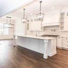 Lantern Style Island Lighting Large White Kitchen With Lantern Style Chandeliers
