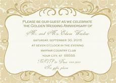 50th Anniversary Template 50th Wedding Anniversary Invitation