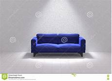 Blue Sofa 3d Image by 3d Rendering Of Blue Sofa In A White Room Stock