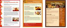 Thanksgiving Newsletter Template Free Get Free Thanksgiving Email Templates