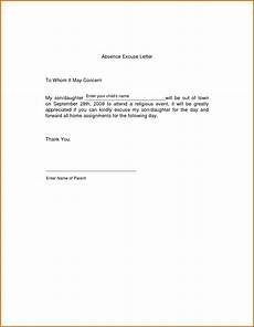 How To Write A Absent Note For School 6 Absent Letter For School Because Of Sick Lease Template