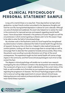 Clinical Writing Sample Clinical Psychology Personal Statement Sample Personal