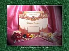 price list undangan pernikahan icard wedding invitation blanko
