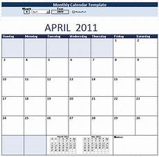 Monthly Employee Schedule Template Free 9 Free Monthly Calendar Schedule Templates In Ms Word And