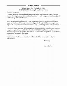 Autocad Operator Cover Letter Best Machine Operator Cover Letter Examples Livecareer