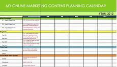 Marketing Calendar Template Excel Online Marketing Content Amp Message Plannersynchronicity