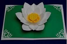 pop up card template flowers lotus flower pop up card template waldorf craft